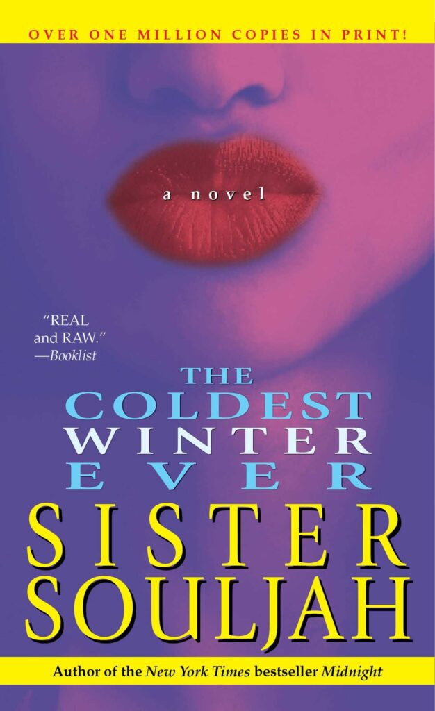 cover of novel featuring the face of a person with red lipstick